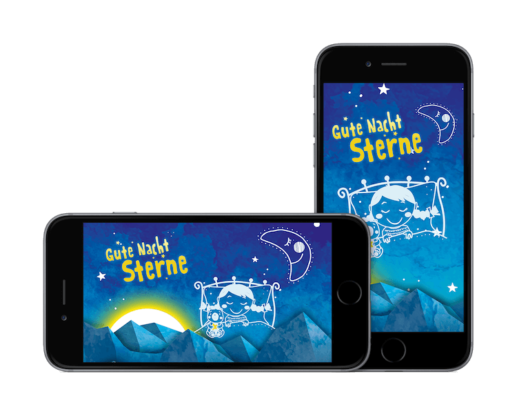 Gute Nacht Sterne iPhone Landscape und Portrait