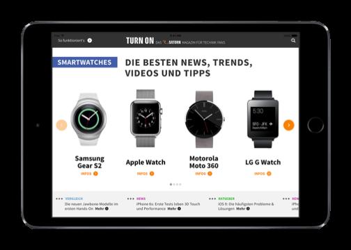 Saturn Deutschland GmbH Hybrid App Store Übersicht