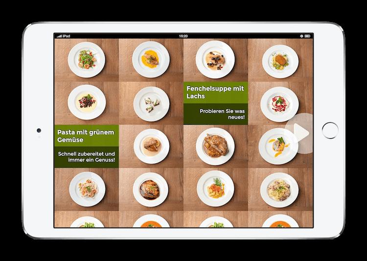 Alfred Biolek iPad iOS interaktives Kochbuch Fenchelsuppe mit Lachs Pasta mit grünem Gemüse