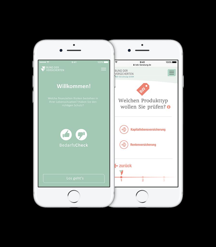BDV iPhone iOS Versicherungsausrechner